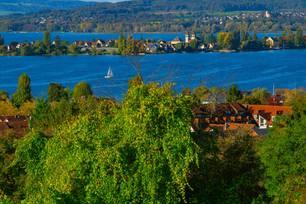 Blick auf Konstanz und Bodensee