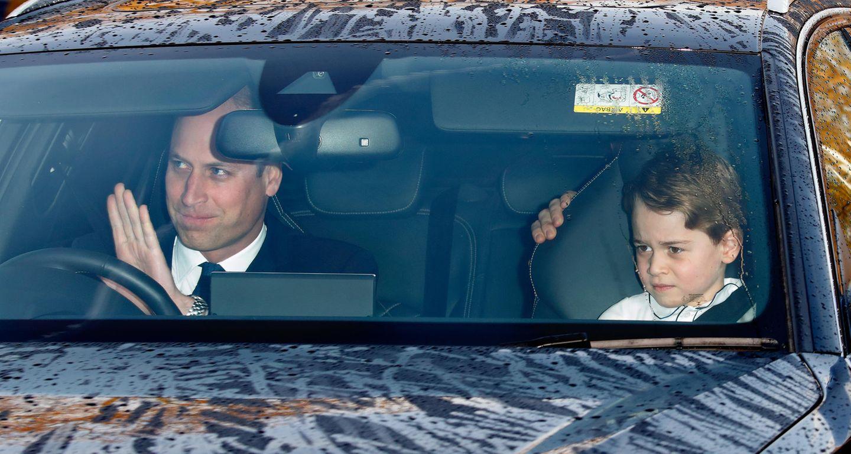 Royale Kinderfotos: Prinz George im Auto
