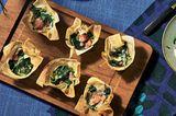 Gefüllte Wan Tan mit Grünkohl und Kochwurst