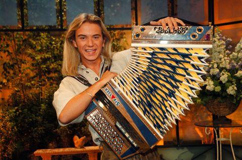 Florian Silbereisen: mit Akkordeon