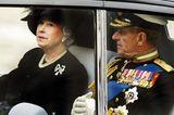 Queen Elizabeth II.:  mit Prinz Philip im Auto