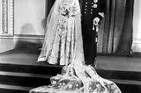 Queen Elizabeth II.:  bei ihrer Hochzeit