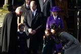 Weihnachten bei den Royals: Prinz William, Herzogin Kate, George, Charlotte und Prinzesin Anne vor der Kirche