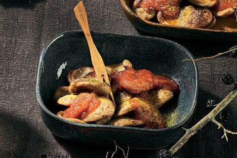 Currywurst vom Wild mit Sandorn-Curry-Ketchup
