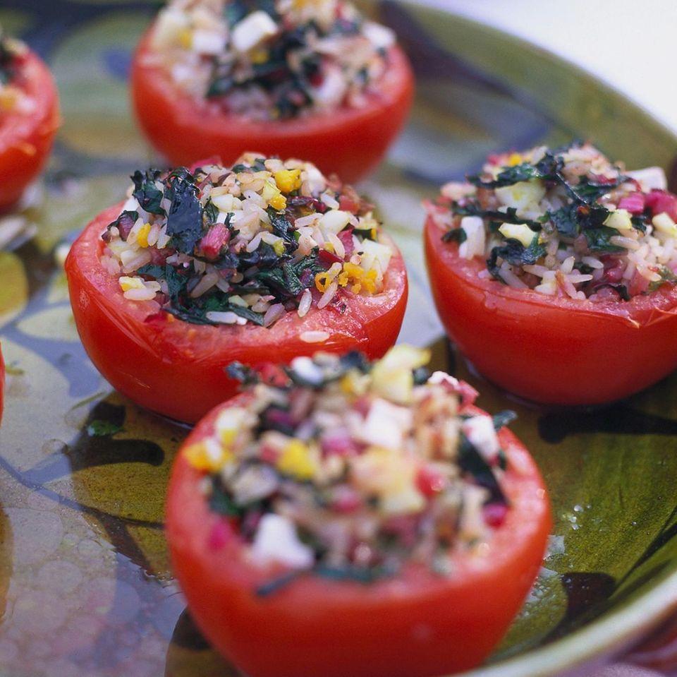 Gefüllte Tomaten mit Mangold