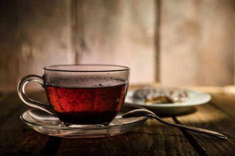 Schwarzer Tee: Schwarzer Tee in einer Tasse