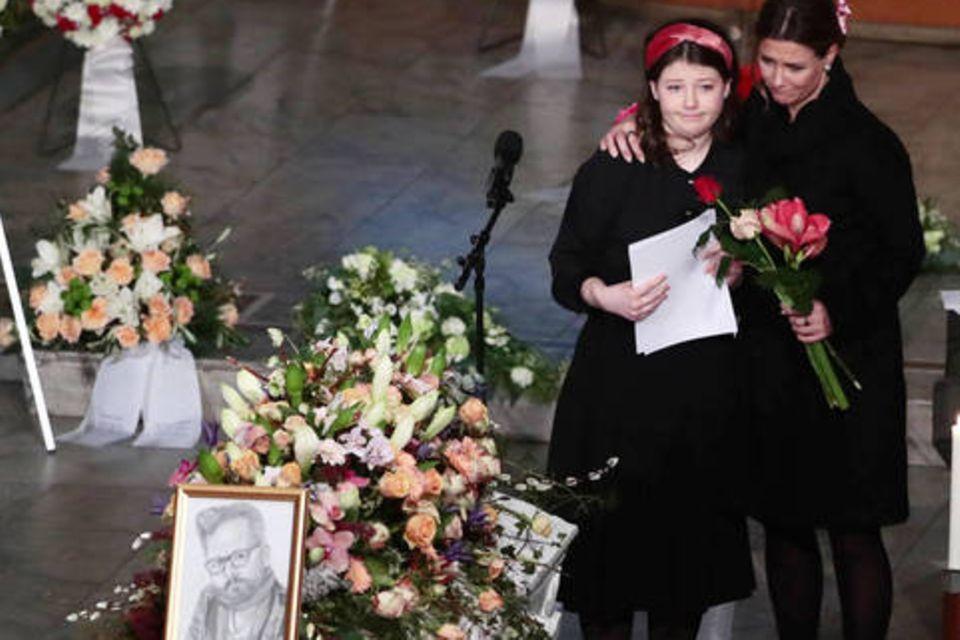 Prinzessin Märtha Louise und Tochter Maud Angelica Behn bei der Trauerfeier für Ari Behn in der Domkirche in Oslo