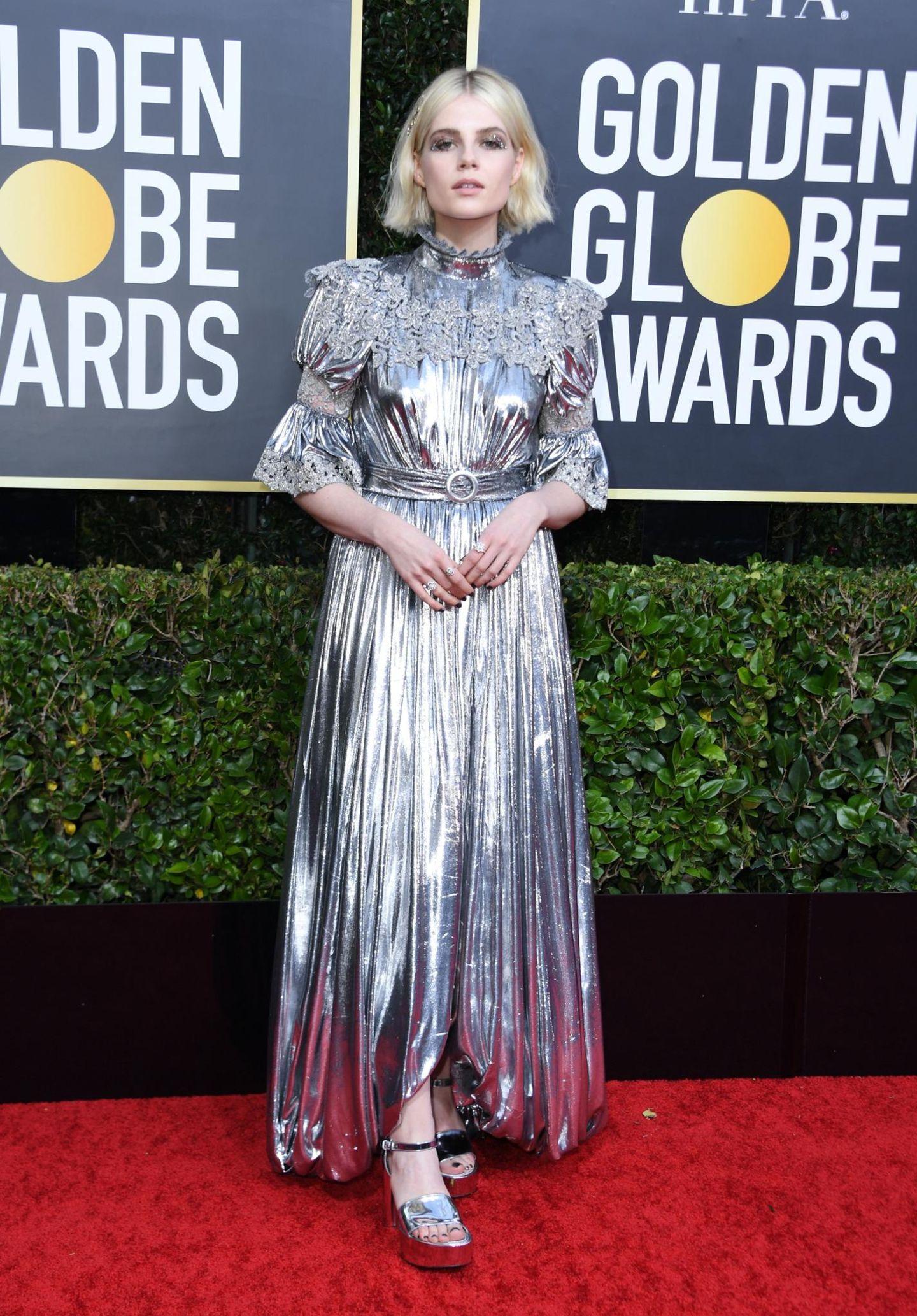 Golden Globes 2020: Lucy Boynton