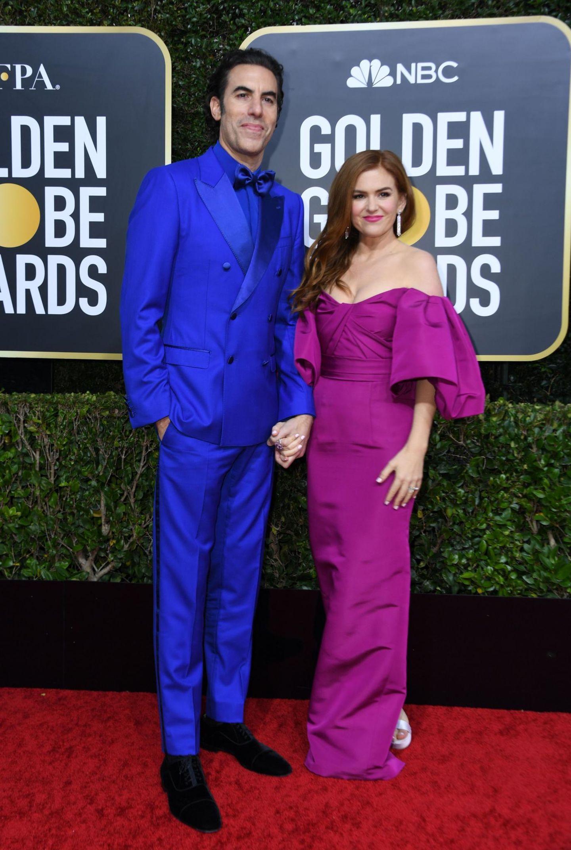 olden Globes 2020: Isla Fisher und Sasha Baron CohenG