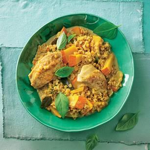 Linsen-Rezepte: Linsen-Curry mit Hühnerbrust