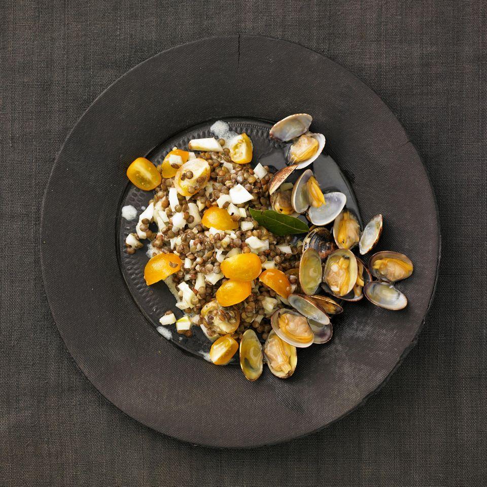 Linsensalat mit Fenchel und Pastis