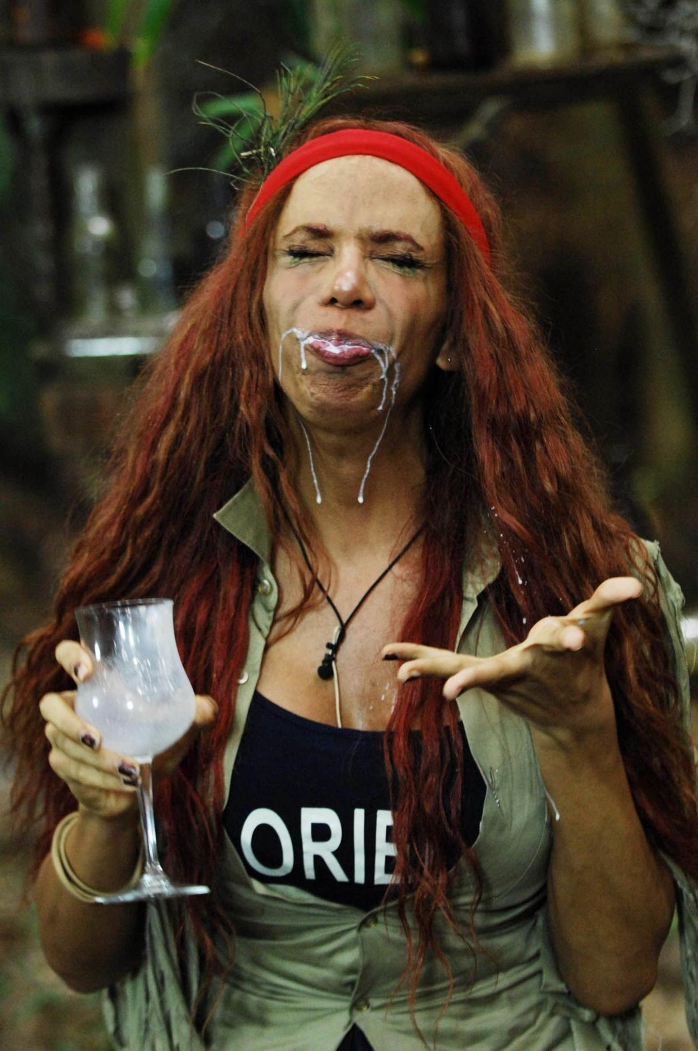Dschungelcamp: Lorielle London trinkt