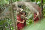 Gabby Rinne und Marco Angelini im Dschungelcamp