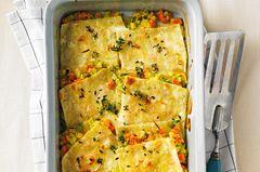 Gefüllte Lasagneblätter mit Gemüse