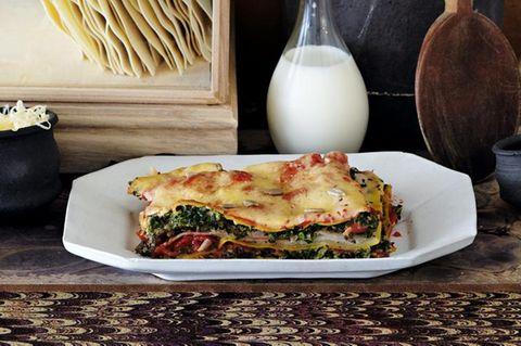 Lasagne mit Grünkohl und Tomaten