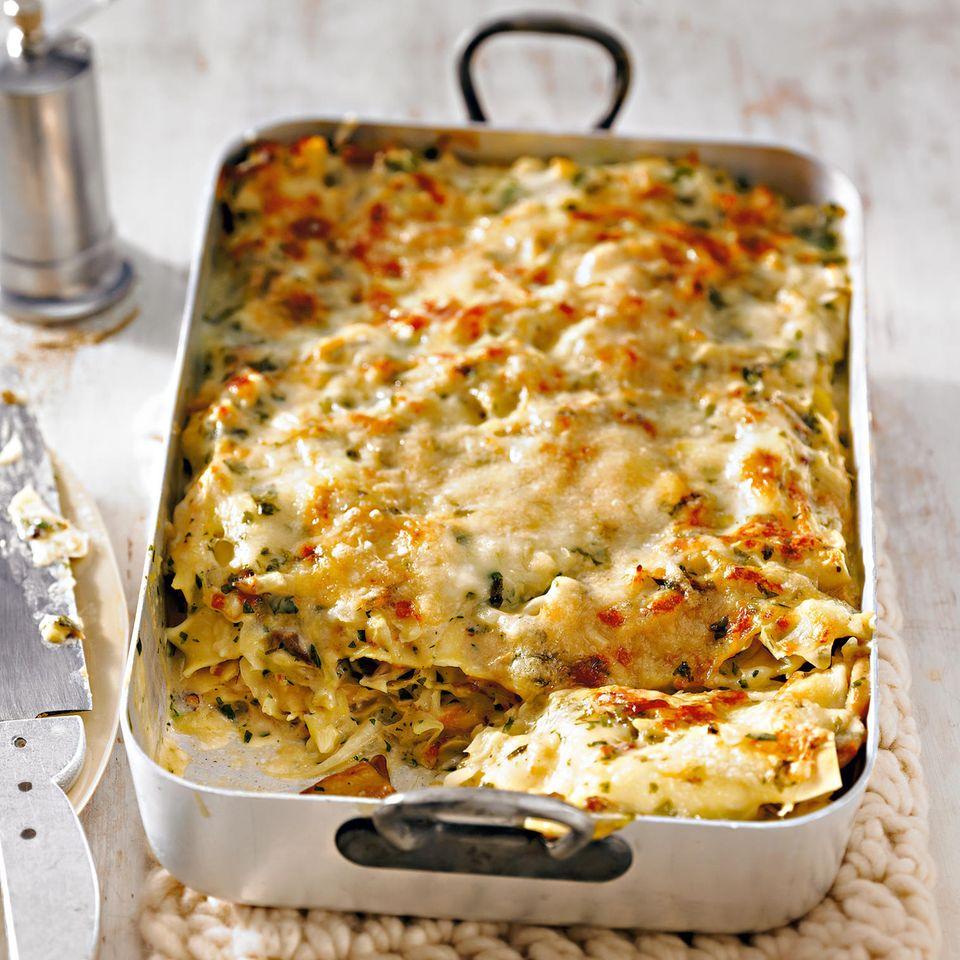 Steinpilz-Weißkohl-Lasagne