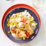 Paprika-Rouladen mit Blumenkohl