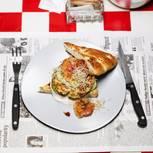 Fisch-Burger mit Fladenbrot