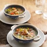 Gerstlsuppe mit Lardo