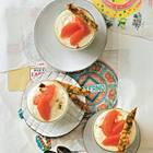 Grapefruit-Mousse mit Krokant