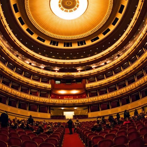Decke der Oper in Wien