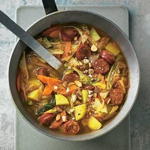 Wirsing-Kartoffel-Eintopf mit Chorizo
