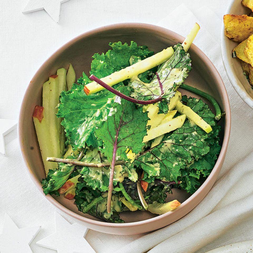 Warmer Grünkohlsalat