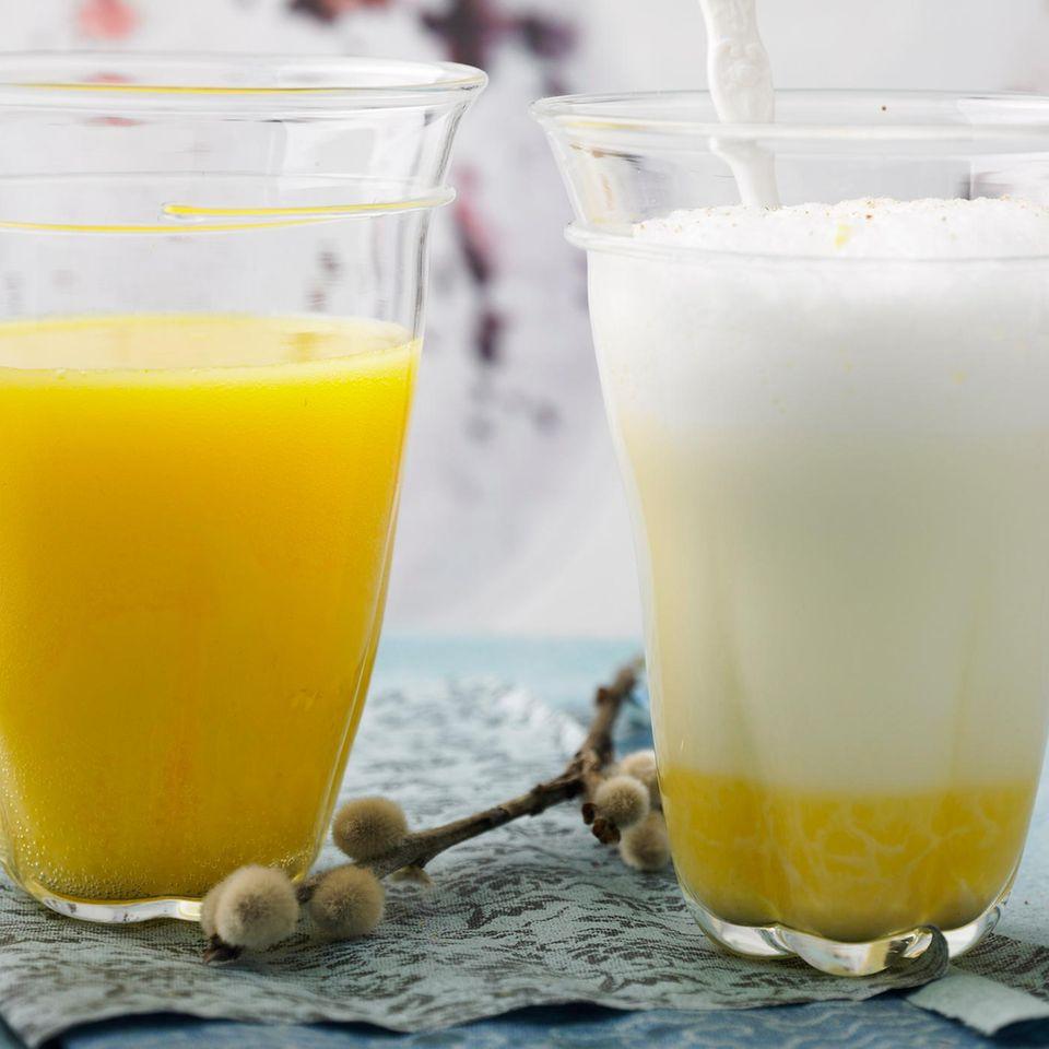 Latte Macchiato mit Eierlikör