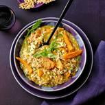 Orangen-Risotto mit Parmesan-Crunch