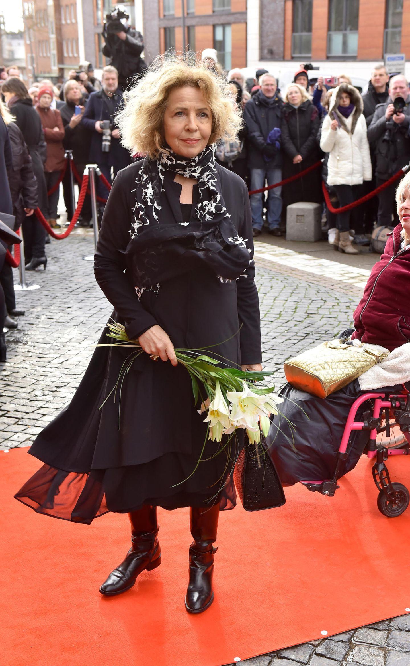 Jan Fedder: Michaela May auf Trauerfeier
