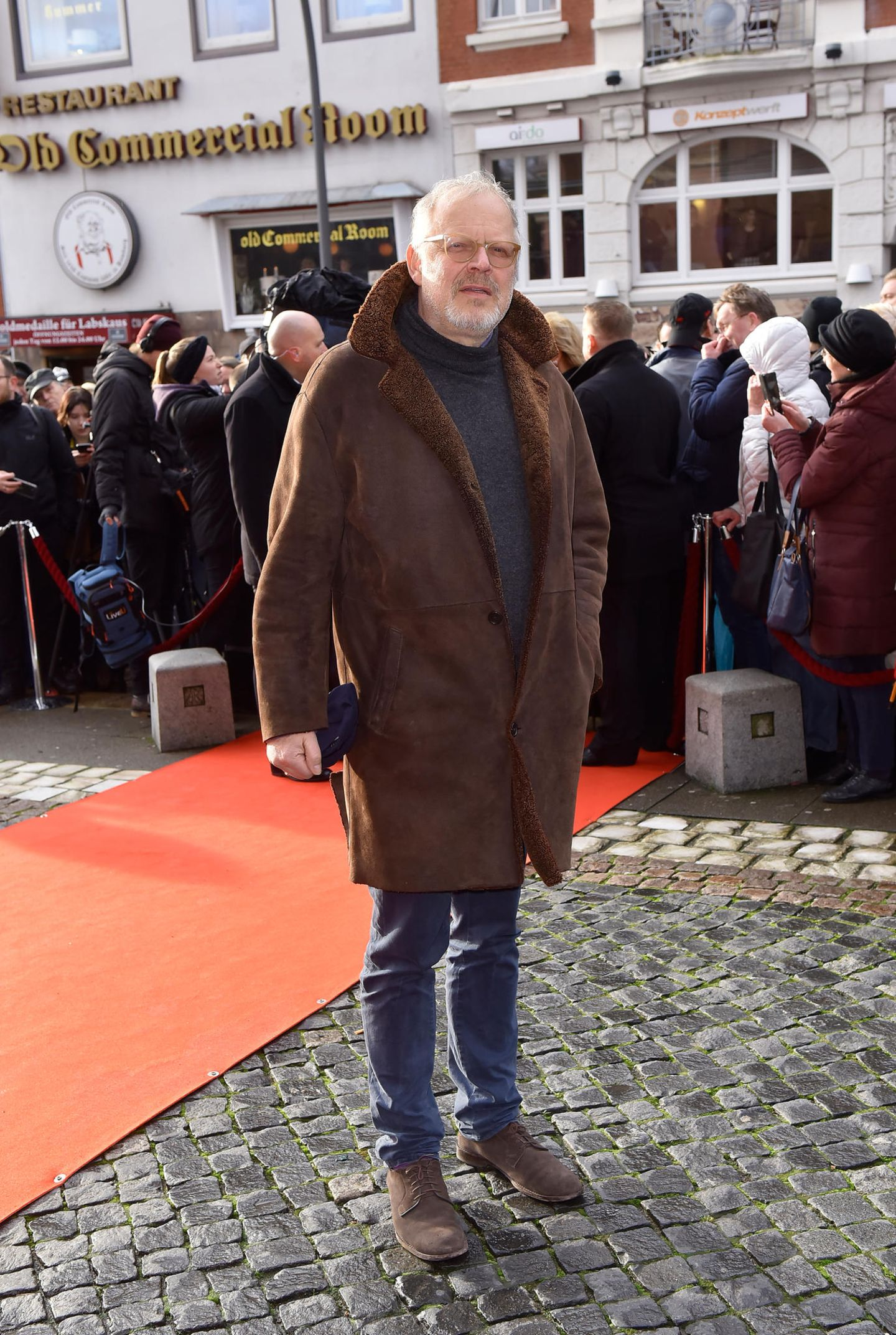 Jan Fedder: Axel Milberg auf Trauerfeier