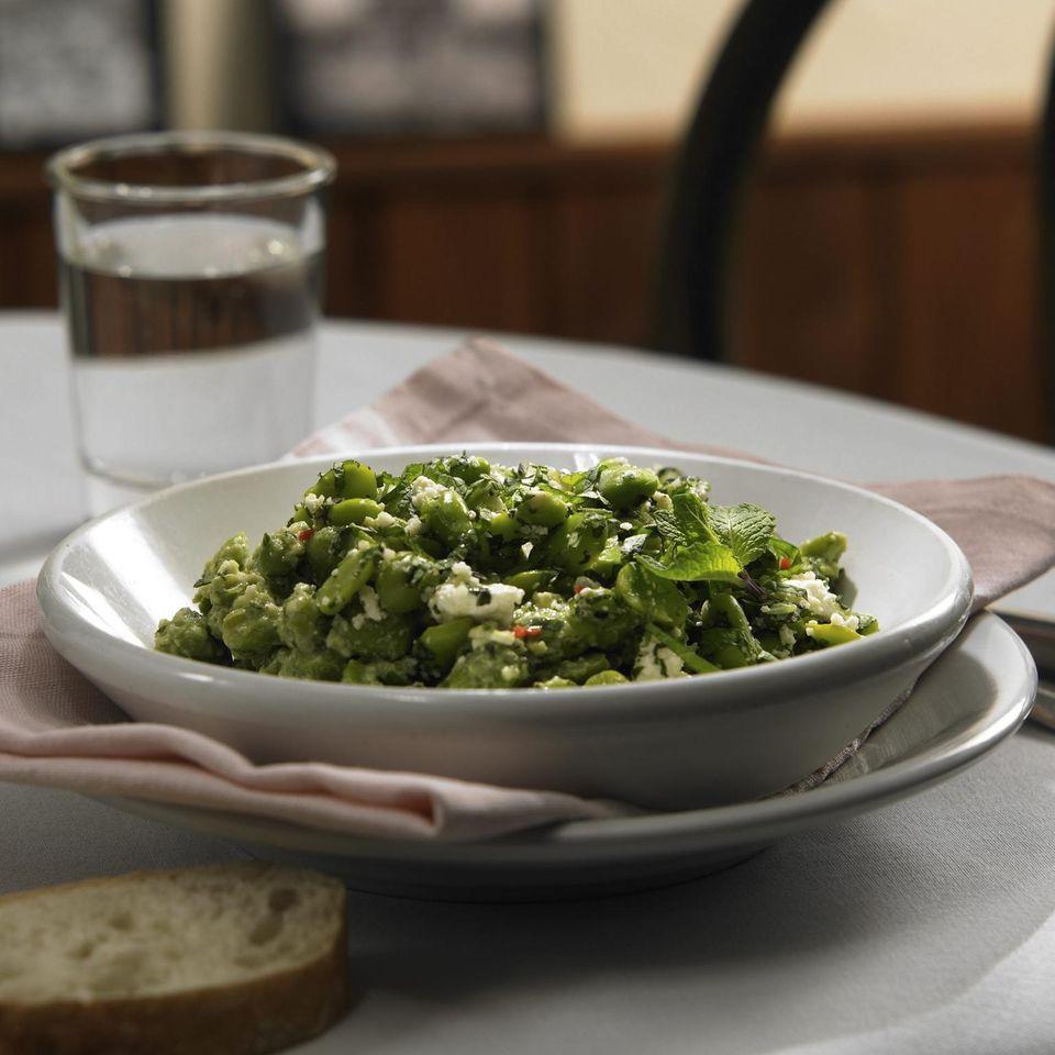 Bohnensalat mit Avocado-Pesto