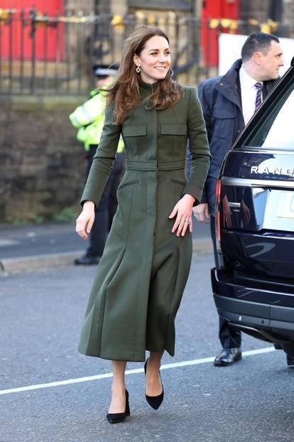 Herzogin Kate: im grünen Mantel