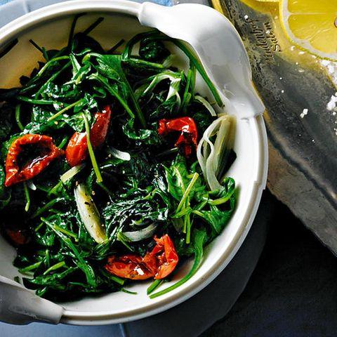 Italienischer Spinat und Bulgur
