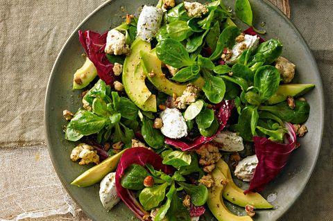Winterblattsalat mit Zitronenverbene