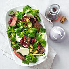 Feldsalat mit Geflügelleber