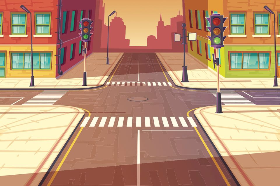 Illustration einer Kreuzung