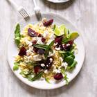 Nudelsalat mit Roter Bete