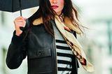 Modetrend Bourgeoisie: Alles andere als spießig! Lederblouson über Kaschmirpullover