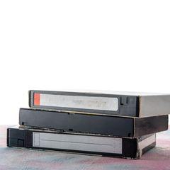 Stapel VHS-Kasetten