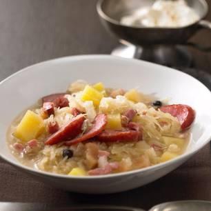 Sauerkraut-Kartoffel-Suppe