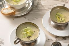 Vichyssoise - Kartoffel-Porree-Suppe