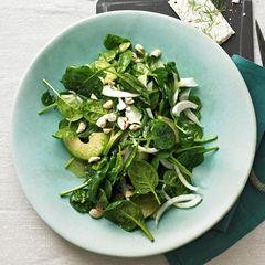 Spinatsalat mit Pastis-Dressing