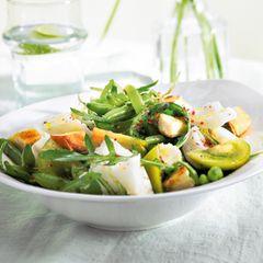 Grüner Fischsalat mit Bohnen