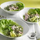 Grüner Reissalat mit Matcha-Dressing