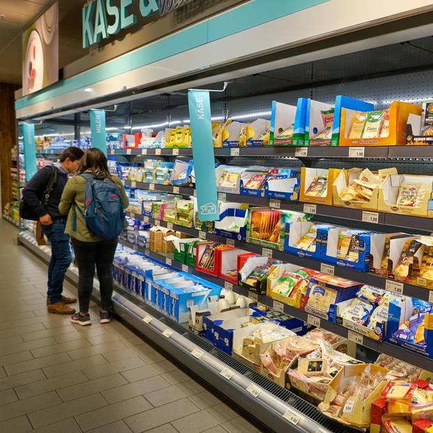 Aldi-Rückruf: Käse-Abteilung
