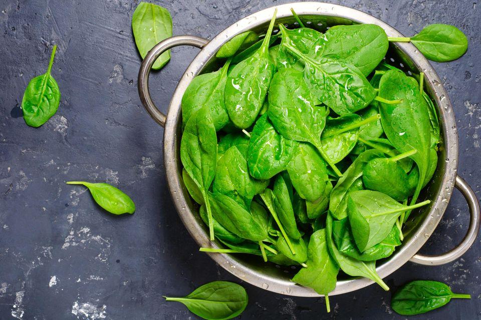 Power-Gemüse: Spinat