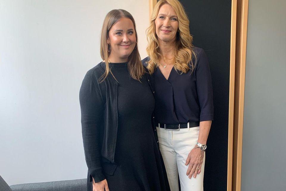 Redakteurin Ann-Christin Gebhardt trafSteffi Graf zum Interview.