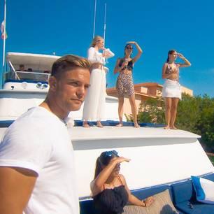 Bachelor Sebastian Preuss auf der Jacht