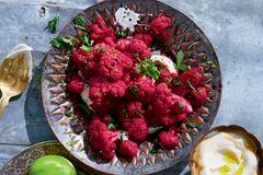 Roter Blumenkohl